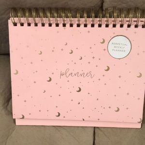 Office - NWOT. Pink and gold Perpetual planner